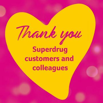£6 million thank you video, Superdrug