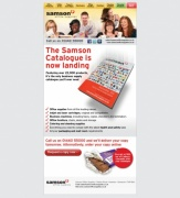 The Samson Catalogue is now landing, Catalogue Email