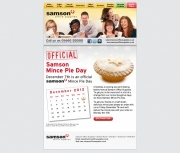 Official Samson Mince Pie Day, Mince Pies Email