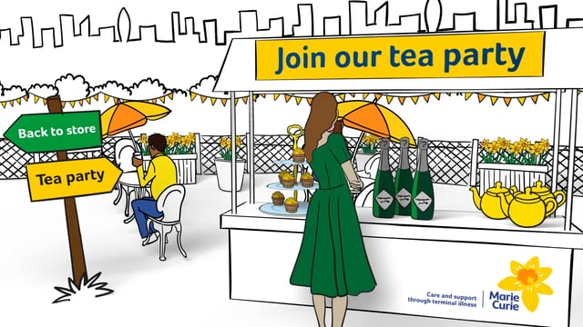 Tea party animation: roof terrace, John Lewis pitch